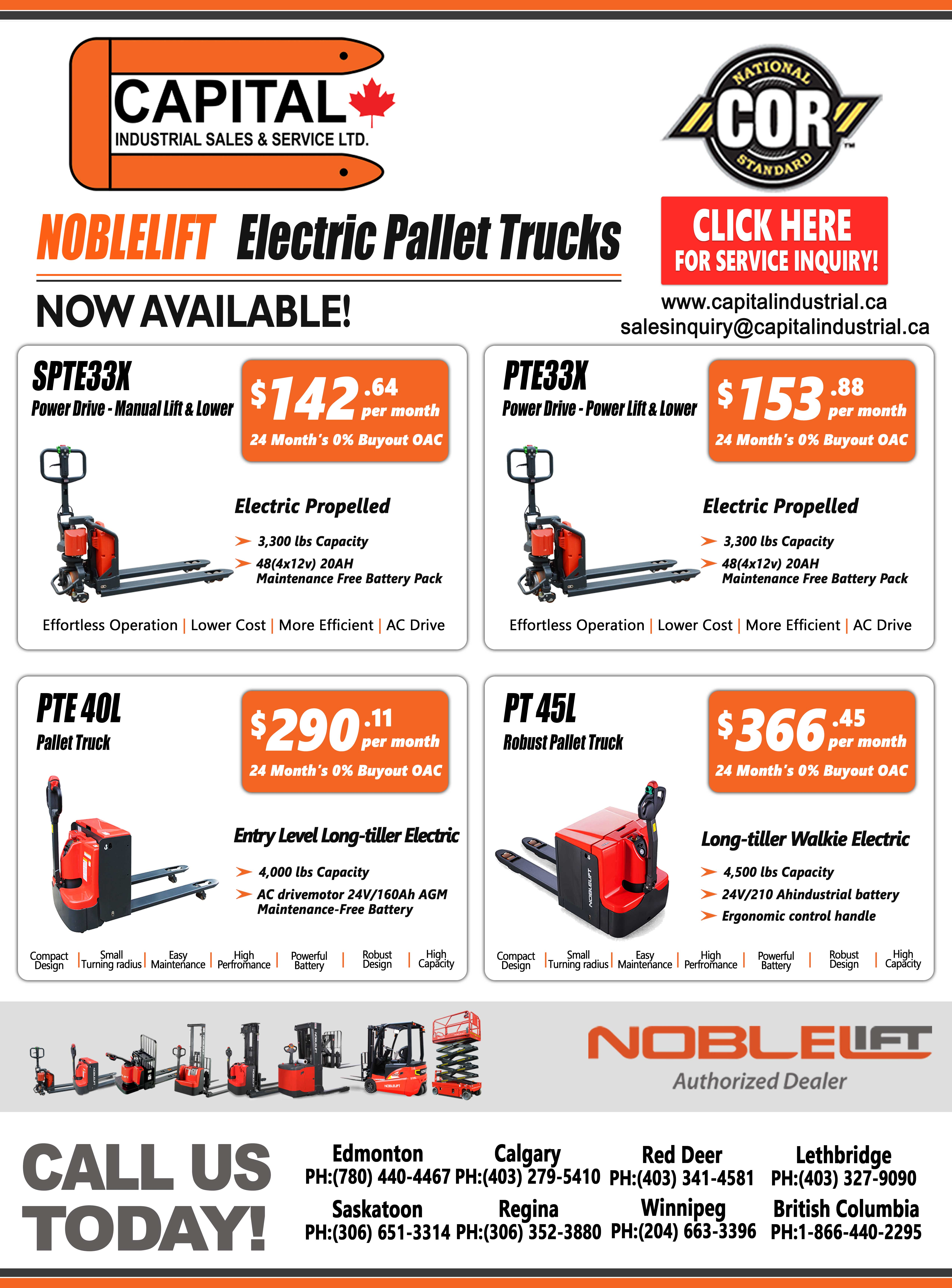 Noblelift Electric Pallet Trucks Sale